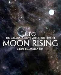 ufo moon rising